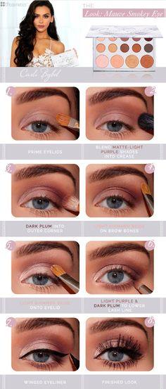 Carli Bybel Mauve Smoky Eye