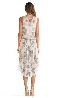 Haute Hippie Embellished Chiffon Dress