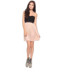 Rosette Sweetheart Dress - Forever 21