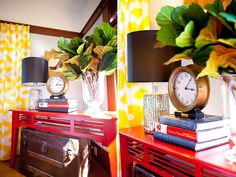 Painted sofa table... Staging