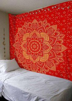Blue Trippy Dorm Tapestry Bohemian Summer Blanket For Beach