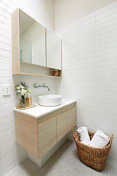 Our beautiful coastal bathroom, ready for a beach getaway Coastal Bathrooms, Flat Ideas, Double Vanity, Design, Beach, Beautiful, The Beach, Beaches