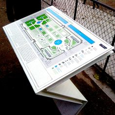More from Le jardin des Tuileries - an interpretative sign - accessible to wheelchair users and features a braille inset and tactile map