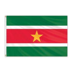 Suriname Outdoor Nylon Flag #FlagCo #OutdoorFlag #Suriname