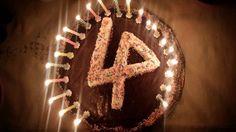 Nice LP logo Birthday Cake, with sprinkles! lp