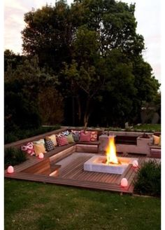 we need this with a movie screen and outdoor speakers, snuggled close to the back of the house