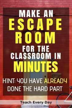 How To Make Any Worksheet Into an Escape Room in the Classroom Wie erstelle ich ein Arbeitsblatt im Klassenraum? Escape Room – Teach Every Day Escape The Classroom, Escape Room For Kids, Escape Room Puzzles, Middle School Classroom, Future Classroom, Literacy Games Middle School, Discipline In The Classroom, Games For Middle Schoolers, Escape Room Diy