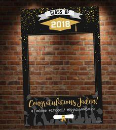 Cabina de la foto de graduación negro y oro. Marco de la | Etsy