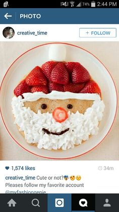 a fun Christmas Breakfast for the kids! Perfect for our North Pole Breakfast! Best Christmas Recipes, Christmas Goodies, Christmas Desserts, Christmas Treats, Christmas Baking, Holiday Treats, Holiday Recipes, Christmas Kitchen, Holiday Fun