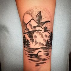 """Inspired by """"Wild Geese"""" by Mary Oliver. Done by Alexis Freeman."""