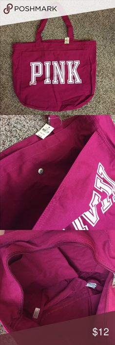 "NWT Victoria's Secret PINK Tote Bag Brand new with tags. Outside pocket and inner pockets. 20"" x 14"" PINK Victoria's Secret Bags Totes"