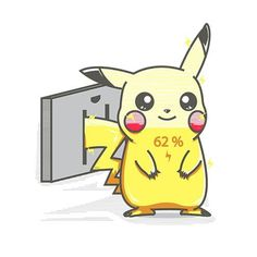 Losing energy playing Pokemon GO? So is Pikachu! Grab this Design Today to Charge Up your Pokemon! Pikachu Pikachu, O Pokemon, Pokemon Funny, Pokemon Memes, Pikachu Crochet, Pokemon Fusion, Pokemon Cards, Kawaii Drawings, Cute Drawings