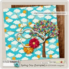Quality DigiScrap Freebies: Spring Day tiny kit from Kristin Aagard Designs