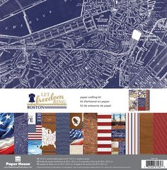 Paper House Productions - Let Freedom Ring Collection - 12 x 12 Paper Crafting Kit - Boston