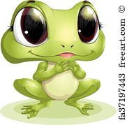 Free art print of Beautiful frog. Vector illustration of Beautiful green frog | FreeArt | fa8394949