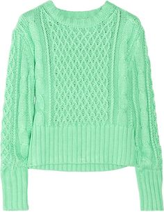 Lia Cable-knit Cotton Sweater - Lyst