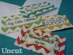 80 Fabric Labels - Sew-On Fabric Labels - Uncut - Free Customization and Proof Using Any Premade Design Shown OR Your Print-Ready Design Sewing Labels, Fabric Labels, Quilt Labels, Design Show, One Design, Custom Design, White Prints, Custom Labels, Custom Fabric