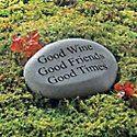 #WineEnthusiast  Good Wine Garden Stone