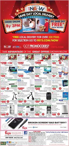 Fry's Electronics Weekly Ad March 5 - 11, 2017 - http://www.olcatalog.com/electronics/frys-weekly-ads.html