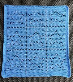 Crochet Filet Star Baby Blanket - Pattern only