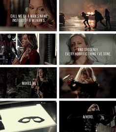 """Laurel Lance: """"Do you want to know the logic behind my actions? Here's one explanation:""""  #arrow"""