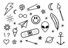 Go Tattoo, Stick Poke Tattoo, Doodle Tattoo, Cute Tiny Tattoos, Mini Tattoos, Small Tattoos, Random Tattoos, Tattoo Design Drawings, Small Tattoo Designs