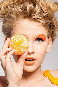Pixabayの無料画像 - 女性, 肖像画, メイク, 化粧, モデル, フルーツ, タンジェリン