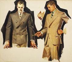 suit study 1931 - J.C. Leyendecker