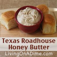 This looks like an effective spread...(effectively showing up on my middle later!) Texas Roadhouse Honey Butter