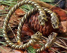 VIKING Silver WOLF BRACELET. Fenrir Bracelet Vikings by RuyaN