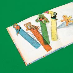 Rainforest Friends Ruler Bookmarks - OrientalTrading.com (5.50 for 48) ($.11 ea)+