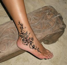 heart ankle tattoos - Google Search