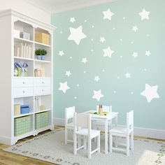 Stars Pack - Nursery & Kids Room Bedroom Shapes Wall Decals