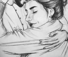 Find images and videos about love, art and drawing on we heart it - the app Cute Couple Drawings, Couple Sketch, Cute Couple Art, Sketches Of Love, Art Drawings Sketches, Love Drawings, Drawing Art, Love Cartoon Couple, Anime Love Couple