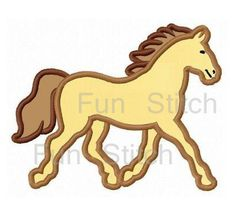 Horse applique machine embroidery design by FunStitch on Etsy, $2.89