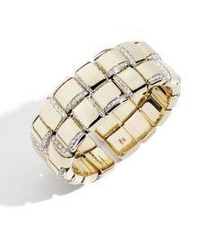 Le bracelet deux rangs Giunco en or et diamants de Vhernier http://www.guilhem-joaillier.com