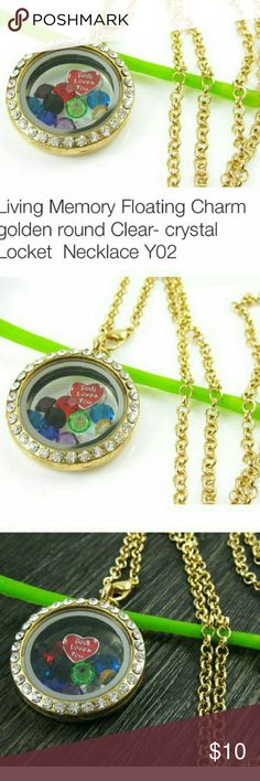 LIVING MEMORY FLOATING CHARM LOCKET NECKLACE LIVING MEMORY FLOATING CHARM LOCKET NECKLACE  100% brand new and high quality Floating charm lockets can be a ideal present for anybody. It's certainly an exceptional gift for the buddies, family, relatives, parent, and even to your someone special. Material: Alloy and rhinestone(artificial) Chain length:60cm/23.4''(approx) Jewelry Necklaces