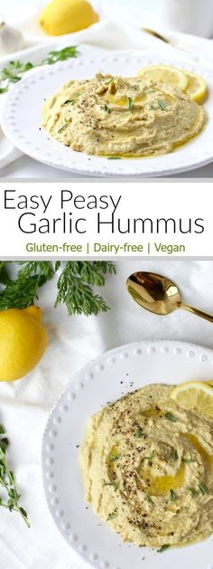 Easy Peasy Garlic Hummus   how to make homemade hummus   easy hummus recipes   garlic hummus recipes   healthy appetizer recipes   healthy dip recipes   gluten-free hummus recipes   dairy-free hummus recipes   vegan hummus recipes   gluten free appetizers