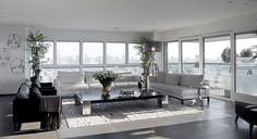 living room in white