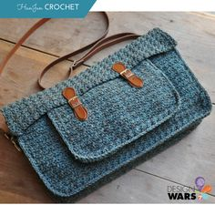 The Quotidian Satchel: Crochet Pattern/ beginner / comes in 3 sizes/ CROCHET pattern