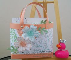 Stampin' Up! Independent Stampin' Up! Demonstrator Susan Merrey Craftyduckydoodah Flower Shop Pansy Punch Box in a Bag