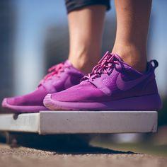 We're diggin' the purple. #Nike #Roshe