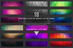 Geometrical Vector Web Banners by yamonstro on @creativemarket