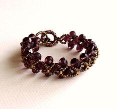 Armreife - Marsala Kristall-Armband, Burgund-Kristall-Armband - ein Designerstück von LaleOkonsar bei DaWanda