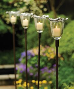 Nice 1479: Garden Candle Stake (Wavy Glass) (Product Detail)