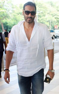 Ajay Devgn at Mumbai airport. #Bollywood #Fashion #Style #Handsome
