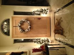 Christmas foyer 2012 (the wreath is normally on the outside)