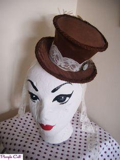 Steampunk-Mini-Top-Hat-Victorian-Goth-Alternative £7 paid