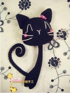 amigurumi cat--So cute! Crochet Vintage, Love Crochet, Crochet Gifts, Diy Crochet, Crochet Baby, Funny Crochet, Crochet Amigurumi, Amigurumi Patterns, Crochet Dolls