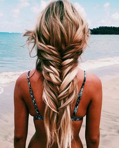 Beautiful mermaid hair by on ? what does your dream hair style look like? Long Braided Hairstyles, Twist Hairstyles, Pretty Hairstyles, Hairstyle Ideas, Wedding Hairstyles, Braids For Long Hair, Boho Braid, Braided Ponytail, Messy Hair